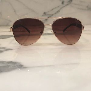 Vintage Chanel aviator sunglasses ombré and gold